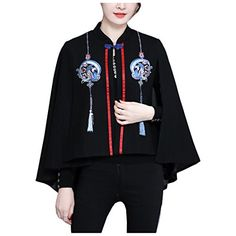 Partiss Womens Embroidery Floral Cape Trench Coat Blazer,... https://www.amazon.com/dp/B078CQ316R/ref=cm_sw_r_pi_dp_U_x_k90jAb2X0GQVD