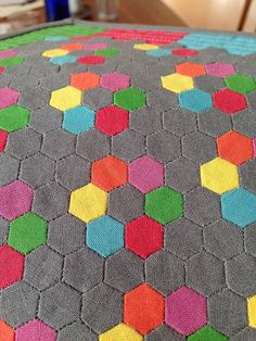 Cam's quilt, by Michelle/QuiltingMick, via Flickr. Thse are tiny!