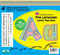 Think of the cute posters and signs you'll be able to make with Barker Creek's new Pink Lemonade Letter Pop-Outs. The set includes 255 die-cut uppercase and lowercase letters and punctuation marks for only $8.99! What a deal!