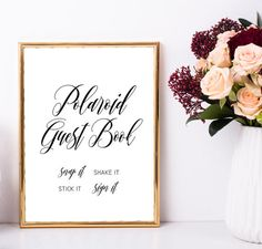 Wedding polaroid guest book sign Photo guest by MyColorMoodWedding
