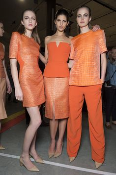 London Fashion Week 2013. Richard Nicoll AW13 backstage snaps as seen in the Topshop Showspace.