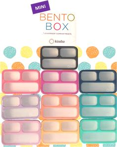 kinsho MINI bento boxes come in 10 colors. Perfect for small meals and snacks! Lunch Box Containers, Easy Lunch Boxes, Snack Box, Bento Box Lunch, Cold Lunch Ideas For Work, Stainless Steel Bento Box, Lunch Box With Compartments, Healthy Packed Lunches, Cute Bento