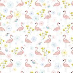 Flamingos Coral wallpaper