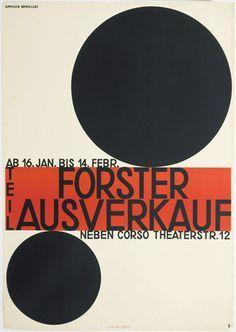 Forster Ausverkauf, design: Otto Baumberger 1928