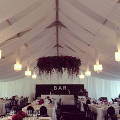 Thanks to La Lumiere for sharing this beautiful PS wedding x 'Some beautiful marquee draping with our silk chandeliers'