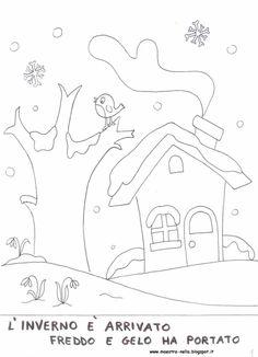 Questa è una prima parte del libretto dell'inverno...più adatto ai bambini di 5 anni.   Appena possibile aggiungerò altre schede e la cope...