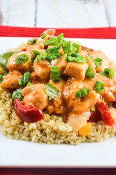 Bang Bang Chicken with Quinoa - Flavor Mosaic - #copycatrecipes #chicken #glutenfree