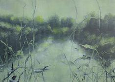 Large Print Original Art 15 x 21  Green Waterway