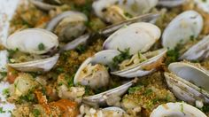 Barley with clam sauce is an alternative to white pasta with clams