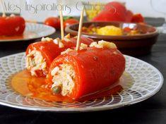 Roulés de poivrons rouge au thon