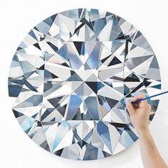 🌟 SURPRISE 🌟 NEW RELEASE 🌟⠀ Meet Catherine, the 5 carat round brilliant diamond painting! This portrait was… Time Painting, Painting & Drawing, Diamond Art, Diamond Graphic, Art Techniques, Painting Inspiration, Art Lessons, New Art, Watercolor Art