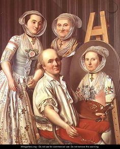 "Antoine Raspal: ""The Artist and His Family"" (English title), oil on canvas"