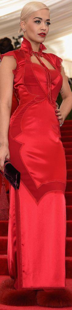 Red Carpet / Met Gala. Rita Ora in Tom Ford