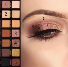 Anastasia Beverly Hills Palette, Glam Makeup, Skin Makeup, Eyeshadow Makeup, Eye Makeup Steps, Makeup Eye Looks, Makeup Palette, Eyeshadow Palette, Abh Palette