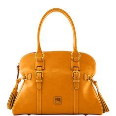 Love my mustard purse!    Dooney & Bourke: Florentine Domed Buckle Satchel