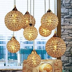 270.56$  Watch now - http://aliqfn.worldwells.pw/go.php?t=32307810278 - Golden LED Modern Crystal Pendant light Lamp with 8 Lights For Living Dining Room ,Luminaire Lustres De Sala Cristal 270.56$