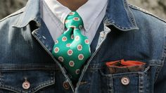 colorful and patterned tie and pocket square