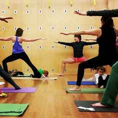 Family Yoga at Yogaworks South Bay --- Sundays 9am -- come one, come all!