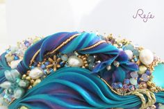 """Shibori silk bracelet """"Fairy Garden"""" https://www.facebook.com/rejegioielliinsoutache www.rejesoutache.com"""