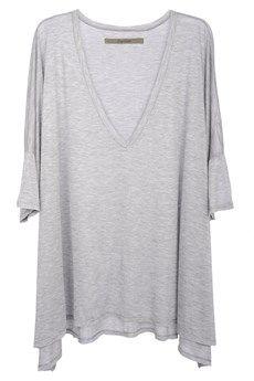 Light grey oversized top