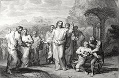 Philip De Vere presents Bowyer Bible print 3749 Christ heals the lunatic Matthew 17:16-18 Mortier on Flickr.  A print from the Bowyer Bible a grangerised copy of Macklins Bible in Bolton Museum and Archives England. Photograph of a print in the Phillip Medhurst Collection (owned by Philip De Vere) at St. Georges Court Kidderminster.