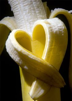 Banana peel heart. Beautiful and vibrant photo <3