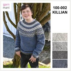 Killian is knitted in Lettlopi - designed by Tove Richter for Garnmani, the pattern or knitting kit for sale at www.no in norwegian or english. Men Sweater, Knitting, Sweaters, Pattern, English, Kit, Design, Fashion, Threading