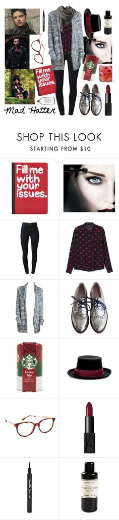"""Mad Hatter"" by lemptiness ❤ liked on Polyvore featuring Once Upon a Time, Pier 1 Imports, Maybelline, J Brand, Monki, penelope and coco, Bruuns Bazaar, Hat Attack, STELLA McCARTNEY and Mad et Len"
