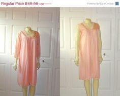 1/2 OFF SALE Vintage Satin Nightgown and by 2sweet4wordsVintage, $25.00  #vintagenightgown #vintagelingerie #cheapvintage #vintageonsale #etsy #clearance #sale