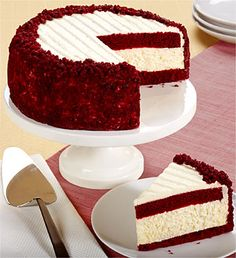 Red Velvet Cheesecake // think i'll be making this around Christmas time... it's what I always get at the cheesecake factory :)