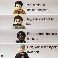 Poe, Rey, Fin, Han