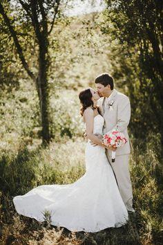 Bismarck, ND Wedding Photography - Bride & Groom, kiss, dress, summer