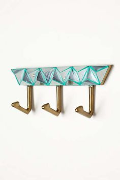 Anthropologie - Mirror Mosaic Hook Rack