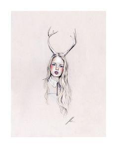 """Jessica"", Jennifer Madden, 2012. Mixed media print"
