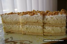 Kolač se ne peče, a gotov je za 15 minuta. Brze Torte, Posne Torte, Kolaci I Torte, Bakery Recipes, Cooking Recipes, Croatian Cuisine, Cake Slicer, Croatian Recipes, Little Cakes