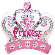 Celebrate your little princess' special day with crown-shaped foil balloons — adds a little enchantment to any princess party! Add to a flower arrangement, basket, or gift. or create a r Barbie Birthday, Barbie Party, Princess Birthday, Princess Party, Cool Wallpapers For Girls, Princess Balloons, Cute Happy Birthday, Birthday Wishes, Wolf Artwork