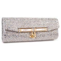 Marie Diamante All Over Strass Pochette de soirée - Noir - Silver vv7HK7hf,