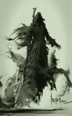 Thanatos IS the grim reaper of Greek mythology. Dark Fantasy Art, Fantasy Kunst, Fantasy Artwork, Art Noir, Character Art, Character Design, Arte Obscura, Tatoo Art, Angels And Demons