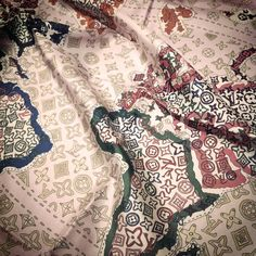 World map - silk scarf by  Louis Vuitton