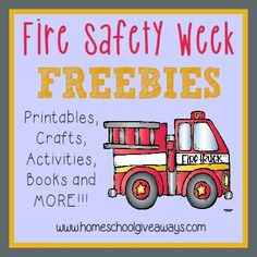 Safety Week Resources Teach kids all about Fire Safety with these {free} printables, craft ideas, books and MORE! Fire Safety Week is Oct kids all about Fire Safety with these {free} printables, craft ideas, books and MORE! Fire Safety Week is Oct Fire Safety Crafts, Fire Safety Week, Preschool Fire Safety, Preschool Learning, Preschool Activities, Teaching Kids, Health Activities, Fire Prevention Week, Injury Prevention