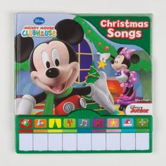 Piano Book Mini Deluxe Mickey Mouse Clubhouse Christmas - Holiday Book Store -