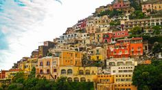 View of buildings and houses in Positano Italy