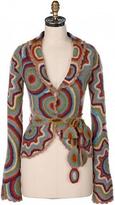 Gorgeous crocheted jacket