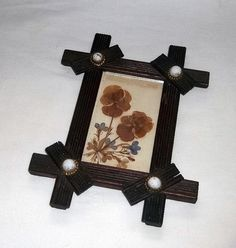 Picture Frame Dried Flowers Rustic Andirondack by JensBarn on Etsy