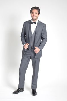 Slim fit, two button, notch lapel charcoal suit for purchase at $169.95 plus free shipping and easy returns.  Available with matching vest.  Also available in modern or classic fits.