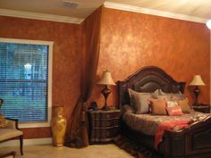 tuscan bedroom kim..op. for u..floor on walls, walls on this floor