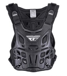 NEW Fly Racing 2017 Mx Revel Chest Protector Black Motocross Roost Guard  Armour 5459064ab4f30