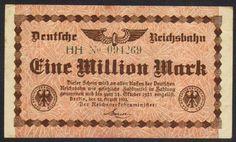 German Railroad - 1 Million Mark