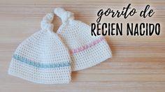 ¿ES NIÑA O NIÑO? ♥ Gorro BEBE RECIEN NACIDO a crochet | tutorial paso a paso | AHUYAMA CROCHET - YouTube