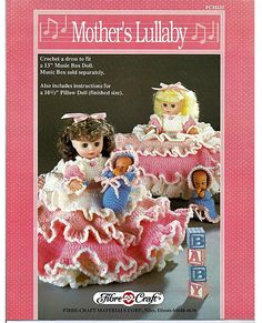 Mother's Lullaby  Pillow Doll, Music Box Doll, or Bed Doll